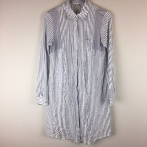 CAbi | Stripe Pucker Button Down Shirt Dress